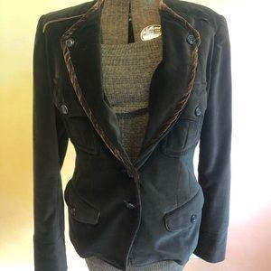 Donna Karan chocolate brown velvet blazer
